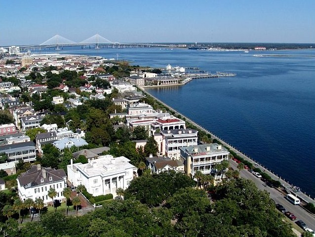 south of broad overlooking charleston harbor