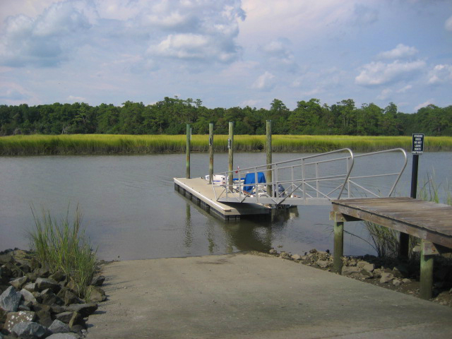 boat ramp at ion community mount pleasant