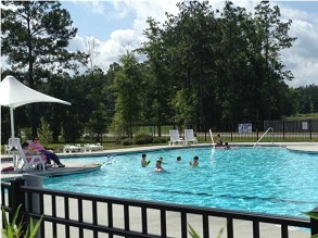 goose creek community with pool