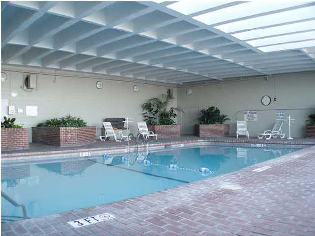 indoor heated pool at dockside