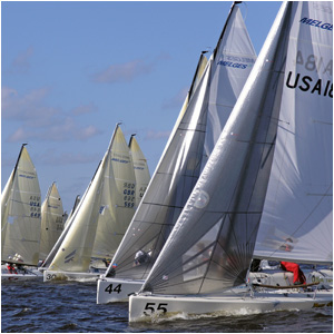 sailing in the charleston harbor