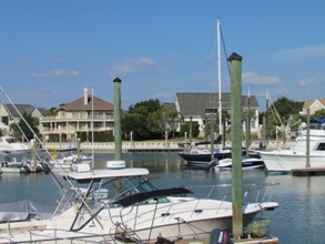 yacht harbor marina at wild dunes