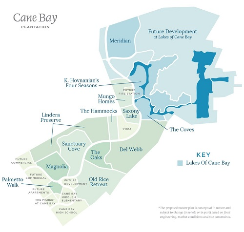 cane bay plantation map