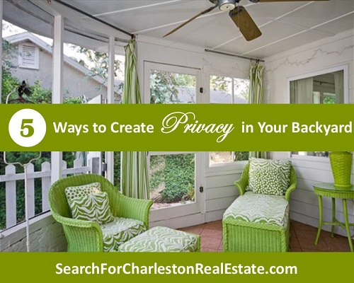 how to create privacy in your backyard