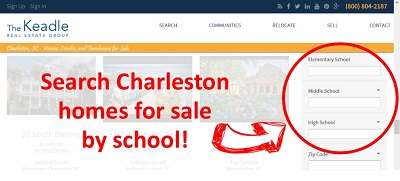 search charleston homes by school