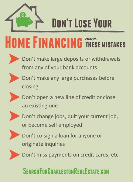 most common home financing mistakes