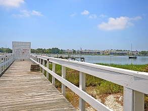 community dock on folly river